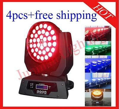 £1210 • Buy 4pcs 36*18W RGBWAP 6 In 1 Led Moving Head Zoom Moving Head Wash Light With Case
