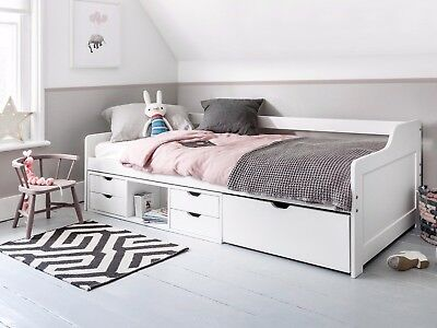 £249.99 • Buy Cabin Bed Day Bed Eva In White Kids Bed Childrens Bunk Drawers