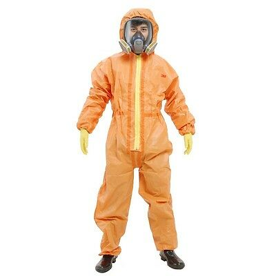 3M 4690 Protective Coverall Chemical Liquid Nuclear Radiation Protection Suit Yt • 67$