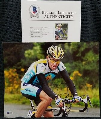 LANCE ARMSTRONG Signed Autographed Tour Of France 11x14 Photo. BECKETT  • 119.75£