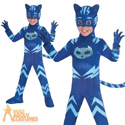 Boys Deluxe PJ Masks Catboy Costume Official UK Superhero Fancy Dress Outfit • 19.99£