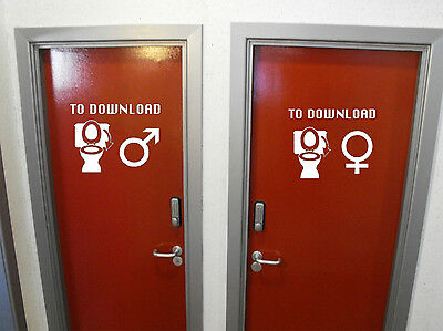£3.73 • Buy Two Stickers: Man And Woman Toilet Bowl. Vinyl Sticker. Both