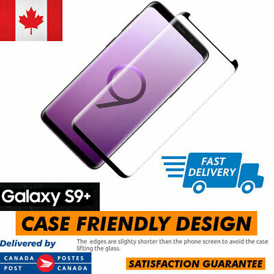 $ CDN6.75 • Buy Case Friendly Samsung Galaxy S9+ Plus Full Cover Tempered Glass Screen Protector