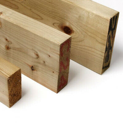 Treated Timber 2x1 2x2 3x2 4x2 6x2 Tanalised Pressure Treated Timber C16 C24 • 13.97£