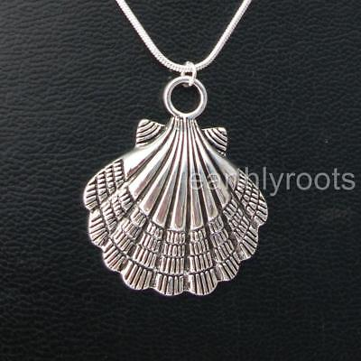 £7.99 • Buy Camino De Santiago Pilgrim Shell Pendant With 20  Sterling Silver Snake Chain