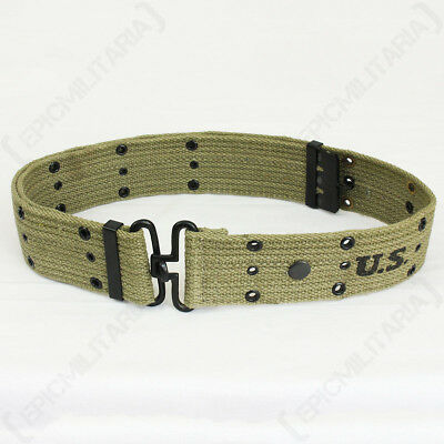 £15.95 • Buy WW2 US Olive Pistol Belt - Repro American Army Uniform Soldier Military USA New