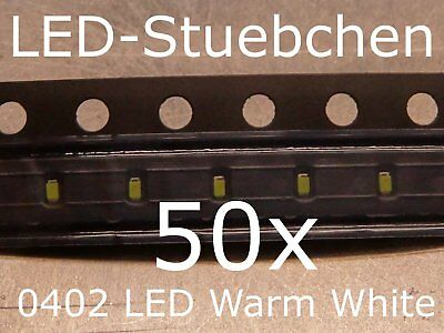 $5.87 • Buy 50x 0402 LED Warmweiss