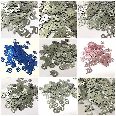 Number Table Confetti - 18 21 30 40 50 60 70 80 Birthday Decoration Party • 1.69£