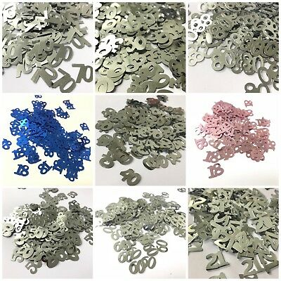 £1.69 • Buy Number Table Confetti - 18 21 30 40 50 60 80 Birthday Decoration Party