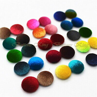 £3.40 • Buy Velvet Fabric Buttons 28mm. Garment Accessories Toys School Party Craft Gift