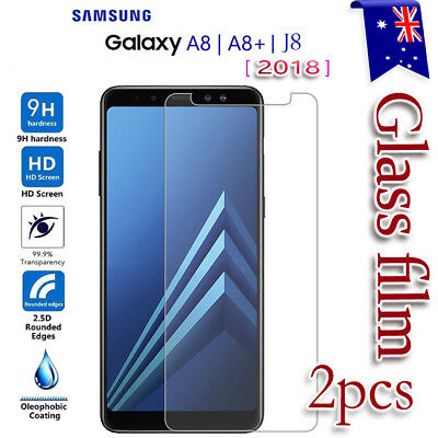 AU4.39 • Buy 2x For Samsung Galaxy A8 A8+ J8 J2 Pro 2018 Tempered Glass LCD Screen Protector