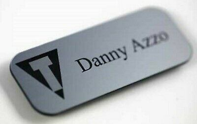 £2.49 • Buy Engraved Personalised Name Badges For Shops, Hotels, Work, Clubs, School Acrylic