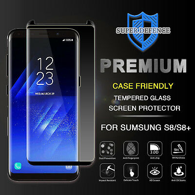 AU8.99 • Buy Case Friendly Samsung Galaxy S8 S9 Plus Full Cover Temper Glass Screen Protector