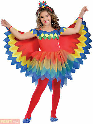 Girls Pretty Parrot Fairy Costume Childs Paradise Animal Bird Fancy Dress Outfit • 14.95£