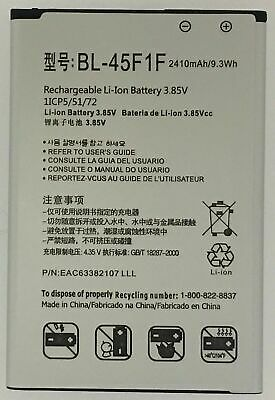 $8.99 • Buy Replacement Battery For LG Phoenix 3 AT&T  M150 BL-45F1F EAC63382107 2410mAh
