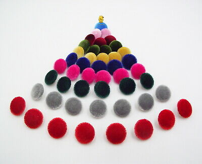 £2.99 • Buy Velvet Fabric Buttons 15mm. Garment Accessories Toys School Party Craft Gift