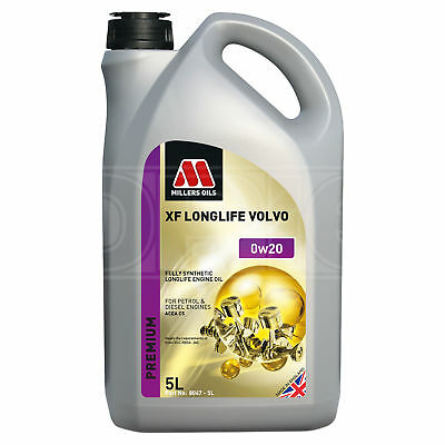 Millers Oils XF Longlife 0W-20 0W20 Volvo Fully Synthetic Engine Oil - 5 Litres • 34.95£