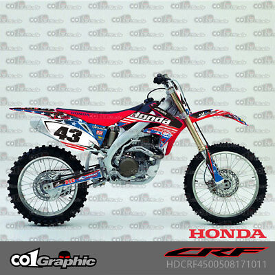 $122 • Buy Graphics Decals Stickers Full Kit For Honda Crf450r 2005-2008