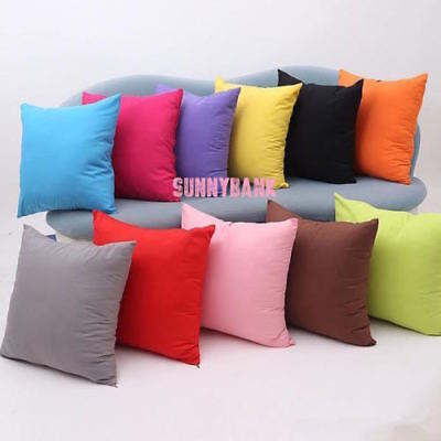 AU14.99 • Buy 60 X 60cm Solid Colour Cushion Cover 100% Cotton Canvas Home Throw Pillow Case