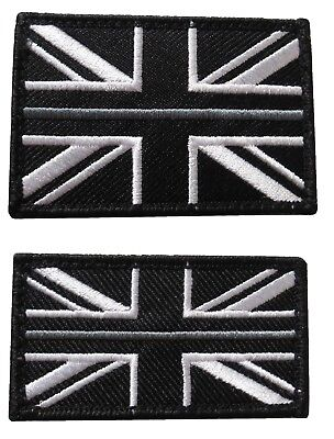Thin Grey Line HM Prison Service Union Jack Badge  Patch  Large & Small TRF  HMP • 5.40£