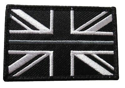 Thin Grey Line HMP Prison Officer Service Union Jack Badge Patch Large TRF HMP • 3.50£