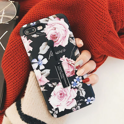 AU5.62 • Buy Luxury Flower Pattern Ring Holder Stand Phone Case Cover For IPhone 8 7 6 XS Max