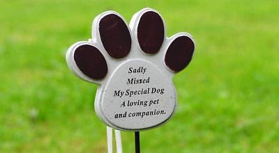 £4.29 • Buy Dog Pet Memorial Tribute Plaque Stake Marker Spike Urn Remembrance Ornament