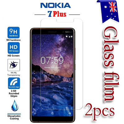 AU5.99 • Buy 2X Nokia 7 Plus Tempered Glass / Plastic Screen Protector LCD Film Guard