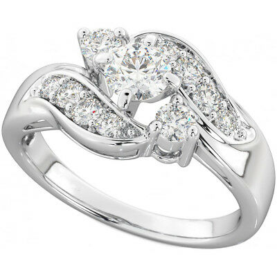 New Boxed Ladies Round Cut Dazzling Cubic Zirconia Ring • 6.99£