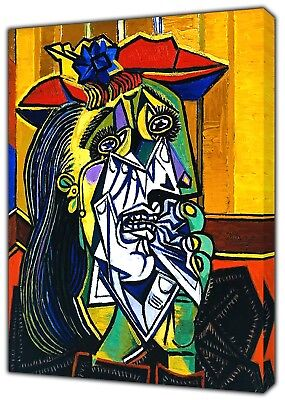 £27.49 • Buy The Weeping Woman Oil Paint By Picasso Reprint  On Canvas Wall Art Decoration