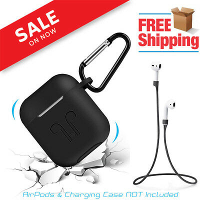 $ CDN6.28 • Buy Strap Holder & Silicone Case Cover For Apple Airpod Air Pod Accessories Airpods