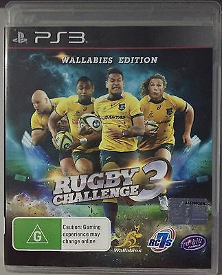 AU32 • Buy Rugby Challenge 3 Wallabies Edition (VERY GOOD COND) PS3 Game Playstation 3