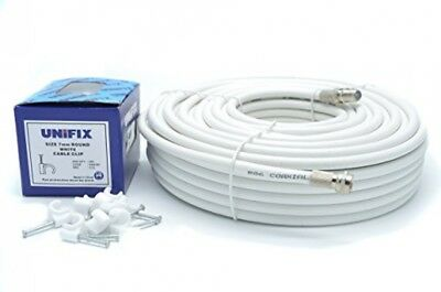£8.26 • Buy  15 Meter RG6 Satellite TV Coax Cable Extension Kit With Fitted F Connectors For