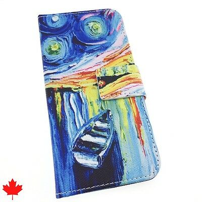 $ CDN8.99 • Buy Samsung Galaxy S6 S7 S7 EDGE Grand Prime Art Paint Leather Wallet Cover Case