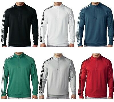 $24.99 • Buy Adidas Golf 3 Stripes 1/4 Zip Mens Pullover Pick One - New