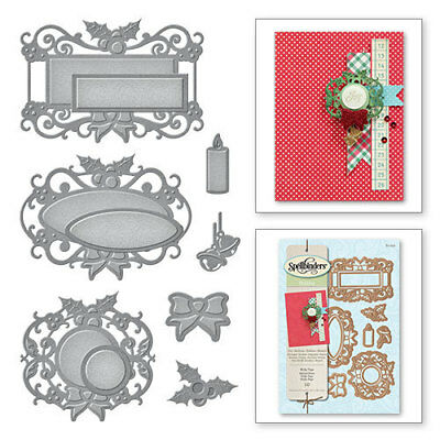 Spellbinders Holly Tags Holiday Christmas Cutting  Die - New  Cut Emboss S4-559 • 10.99£