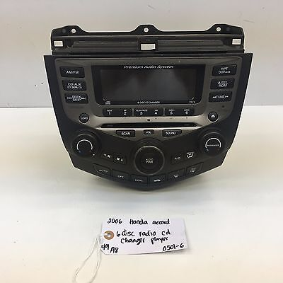 $359.99 • Buy 03-07 HONDA ACCORD COUPE OEM Radio Stereo 6 Disc Changer CD Player