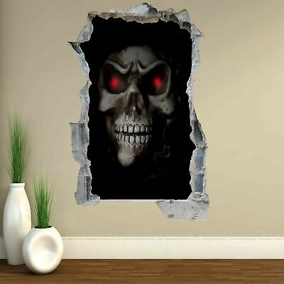 Skull 3D Wall Art Sticker Mural Decal Poster GH19 • 22.99£