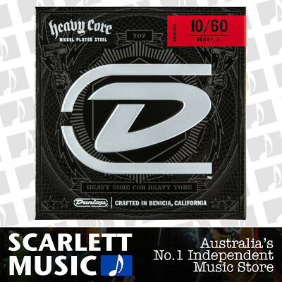 AU16.35 • Buy Dunlop DHCN1060 Heavy Core NPS Electric 7-String Guitar Strings - .010-.060