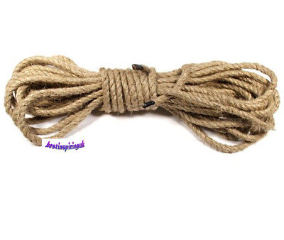 4mm 6mm Natural Jute Rope Strong Secure For Home And Craft • 7.14£