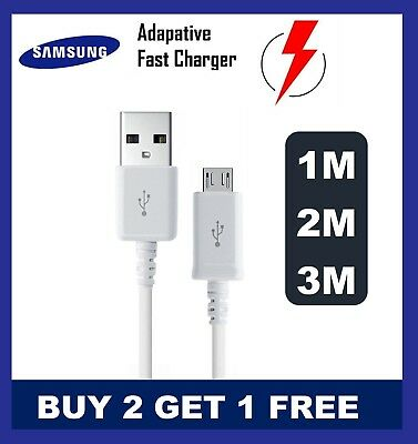 Samsung Galaxy S3 S4 S5 S6 S7edgePLUS  S8 S9 S10 Fast Charger USB Cable 1M 2M 3M • 2.99£