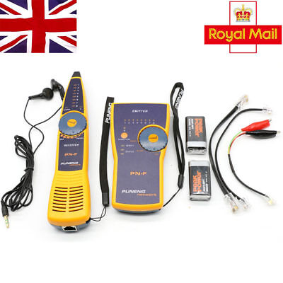 PUNENG PNF Cable Wire Network Toner Probe Tracker Tracer Tester RJ45 RJ1 • 31.75£