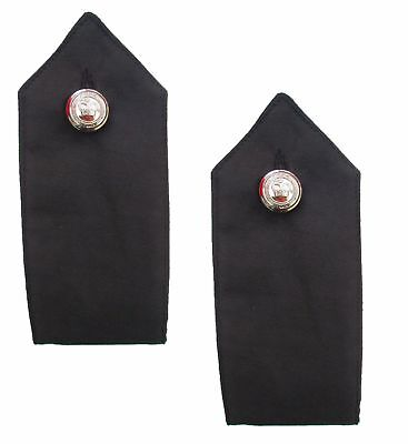 £11.29 • Buy Black Police Security Met Style Chrome Button On Shirt Epaulettes Collar Numbers