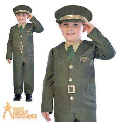 Child WW2 Soldier Costume 1940s Army Boys Book Week Day Fancy Dress Outfit Kids  • 12.99£