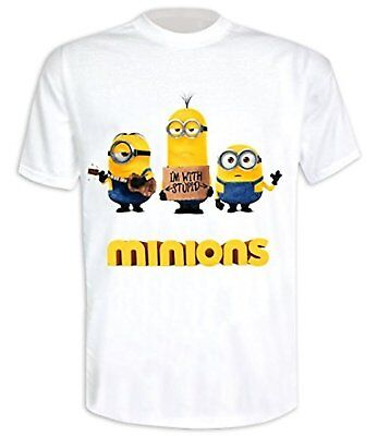 Despicable Me (Minions) - I'm With Stupid - Official Mens T Shirt • 7.99£