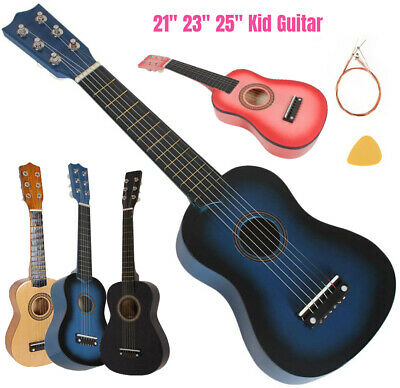 21  23  25  Inch Children's Little Guitar + Strings + Pick Toy UK • 9.94£