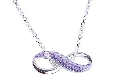 Ah! Jewellery® Genuine Amethyst Crystal Pave Pendant From Swarovski® • 29.99£