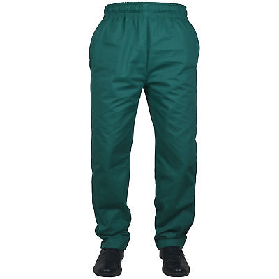 £10.99 • Buy Black Chef Trousers 100% Cotton Pant 3 Pockets Unisex Design White Chef Trousers