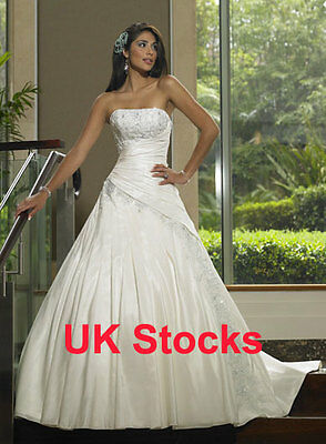 $ CDN323.85 • Buy Elegant Taffeta Wedding Dresses Bridal Evening Gowns Custom Made
