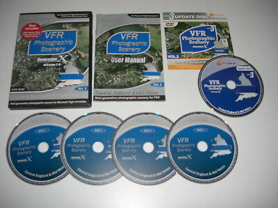 VFR SCENERY Generation X Vol 2 - Central England & Mid Wales 2.0 + Update Pc FSX • 19.99£
